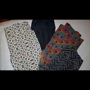 4 pair xl lularoe leggings